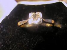 Stunning Art Deco 18ct Gold, Plat & Diamond Solitaire Ring