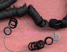 Vintage Rings SEQUINS FRENCH COUTURE Celluloid JET Black PAILLETTES Charms lot