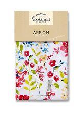 """""""Floral Romance Apron"""" Cooksmart kitchen Wear Wipe Clean Cloth Apron 100% Cotton"""