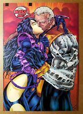 Domino Kissing Kiss Cable X-Men Marvel Comics Poster by Ian Churchill
