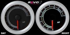 REVO Air Fuel AF A/F Ratio Gauge Meter 52mm WHITE LED