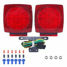 Pair Rear LED Submersible Trailer Tail Lights Kit Boat Truck Waterproof IP68 CA