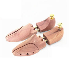 Pair Cedar Wood Shoe Tree Stretcher Shaper Adjustable Men's US 11-12
