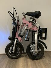 Kwikfold Pro 12 Aluminium Folding Electric Bike ebike with Battery -Pink Edition
