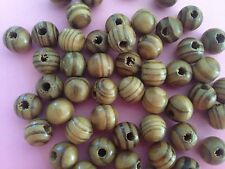 BURLY WOOD BEADS,8 MM, 100 BEADS COLOR AS PICTURED HOLE ABOUT 2.5 MM