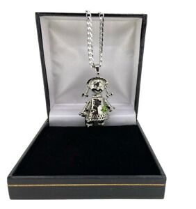 Silver Filled Rag Doll Pendant With Curb Chain