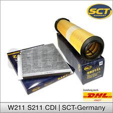 Mercedes Benz E-Klasse W211 S211 CDI: Innenraumfilter Pollenfilter + Luftfilter