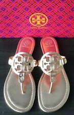 NEW Tory Burch Miller Metallic Rose Gold Leather Sandals Size 8.5 NIB $228