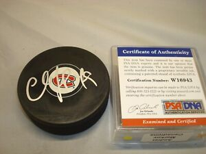 Andrei Markov Signed Montreal Canadiens Hockey Puck Autographed PSA/DNA COA 1A