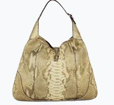 Gucci Gold Metallic Python JACKIE Hobo Large Shoulder Handbag Bag Snake Purse