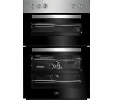 BEKO BUILT IN INTEGRATED ELECTRIC DOUBLE OVEN FAN STAINLESS STEEL BXDF21100X