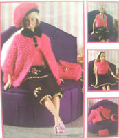 KNITTING PATTERN Sindy Barbie 11.5in Fashion Doll clothes Disco Diva DK skirt