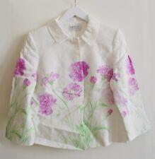 1f40b5c6d6d Precis Petite Linen White Floral Formal Occasion Blazer Jacket Size 12