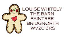 260 Personalised Labels Gingerbread Man design / Address / design 83