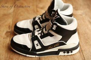 Genuine Louis Vuitton Virgil Abloh White Black Sneakers Men's UK 5.5 US 6.5