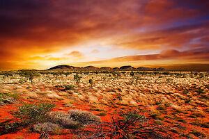 PRINT POSTER bush land SA range outback mountain Australia Fits A0 Glass Frame