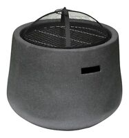 Outdoor Fire Pit Bowl & BBQ Grill Round Patio Fire LARGE Outdoor Fire Pit 53.5cm