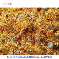 100 GRAM DRIED ORGANIC CALENDULA FLOWERS - CALENDULA OFFICINALIS - 100% PREMIUM