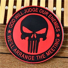 Navy Seals Punisher Red Badge 3D PVC Rubber Military Tactical