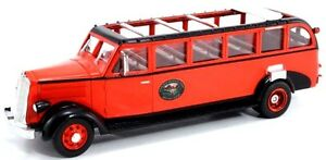 """New  Retired 1936 White 706 Red Bus Tours  """"Glacier National Park"""""""