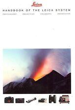 1995 Leica Cámara Sistema Manual Catálogo Folleto -R7-R6.2-M6-MINILUX-TRINOVID