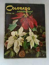 Vintage Colorado Wonderland Magazine December 1955 Christmas