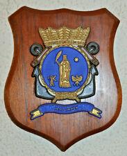 Hr Ms Ommen plaque shield crest Dutch Navy gedenkplaat HNLMS