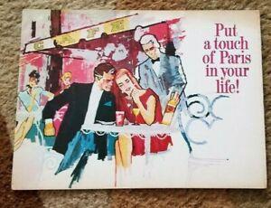 1960s DUBONNET Rouge Grand Aperitif de France Wine DRINK & FOOD RECIPES Booklet