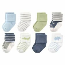 Luvable Friends Boy Socks, 8-Pack, Safari