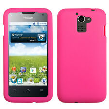For MetroPCS Huawei Premia Rubber SILICONE Soft Gel Skin Case Phone Cover Pink