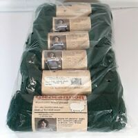 Vintage Caron Glencannon Ardina Yarn 6 Skeins In 1165 Hunter Green 4 ply Wool