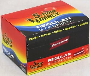 5 Hour Energy Pomegranate 12 Count Box 1.93 oz Shots Sugar Free Ship Hr Five