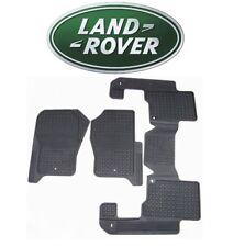 Land Rover LR3 LR4 Black Rubber Floor Mats 1st and 2nd Row Set Genuine LR006238