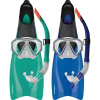 Mirage Bahamas ADULT Snorkel Set Includes Flipper Snorkel Mask - Sizes S - XL