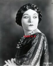 "POLA NEGRI Old Restrike Photo 1925 ""EAST OF SUEZ"" RARE Braided Hair Portrait"