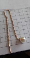 Rotgold Durchzieher Ohrhänger mit Perlen Ketten Ohrringe Rose Gold 585 Neu