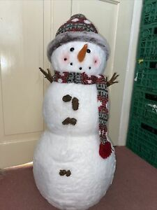 Large Standing Snowman Decoration