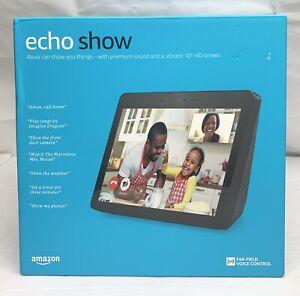 "Amazon Echo Show 2nd Gen 10"" Smart Display w/Alexa Assistant Charcoal Black New"