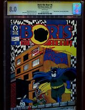 BORIS THE BEAR 6 CGC 8.0 SS-AUTO/ ROB LIEFELD-1ST LIEFELD PUBLISHED WORK