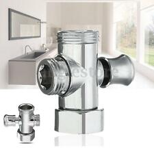 Brass Chrome 3 Way Shower Diverter G3/4'' & G1/2'' T-adapter Valve Bathroom