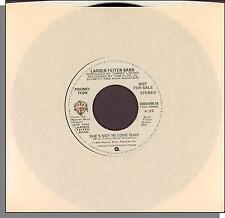 """Larsen-Feiten Band - She's Not in Love - 1980 WB Promo 7"""" 45 RPM Single!"""
