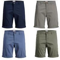Jack & Jones Mens Chinos Shorts Regular Fit Casual Summer Beach Half Pants