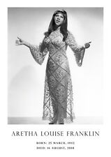 Aretha Franklin A3 poster #1 - Queen of soul Tribute poster - A3 - 420mm x 297mm