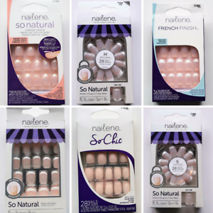 Nailene So Natural French Finish Chic Manicure False Nails Glue or Press On