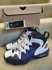 RARE Nike Air Penny 3 III MAX ZOOM White/Varsity Purple Men's Size 10 With Box
