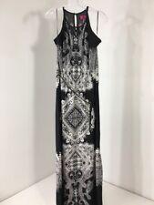 BOOHOO WOMEN'S ANNABELLE KEYHOLE PAISLEY MAXI DRESS BLACK/WHITE UK:12/US:8 NWT