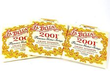 La Bella Guitar Strings  3 Pack Flamenco Light Silver Plated Wound
