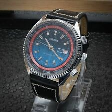 Mens Large Vintage 1970s Aseikon 'Seiko' World Time Rotating Bezels Watch 42mm