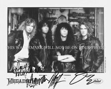 MEGADETH BAND AUTOGRAPHED 8x10 RP PROMO PHOTO NICK MENZA DAVE MUSTAINE MEGADEATH
