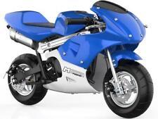 MotoTec Phantom Gas Pocket Bike 48.9cc 2-Stroke Blue Air Cooled EPA Approved 13+